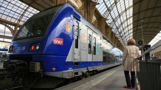 Train en gare de St-Charles